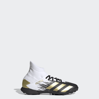 Boys Football White Predator Mutator 20.3 Turf Boots