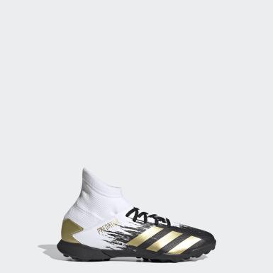 Children Soccer White Predator Mutator 20.3 Turf Shoes