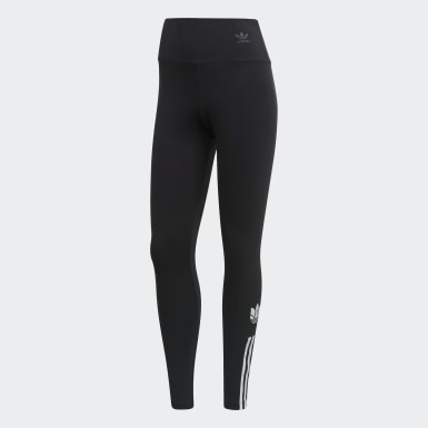 Tight adicolor 3D Trefoil Nero Donna Originals