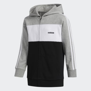 Youth Training Grey Hooded Jacket