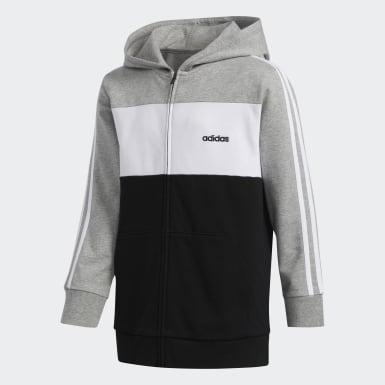 Sweat-shirt à capuche gris Adolescents Entraînement