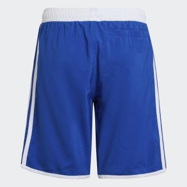 Jungen Schwimmen 3-Streifen Badeshorts Blau