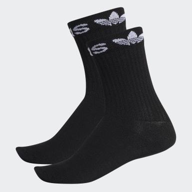 Linear Cuff Crew Socks 2 Pairs
