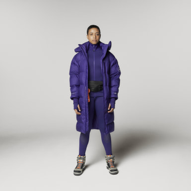 Kvinder adidas by Stella McCartney Lilla adidas by Stella McCartney Long Puffer frakke