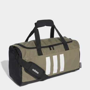 Lifestyle Green 3-Stripes Duffel Bag Small