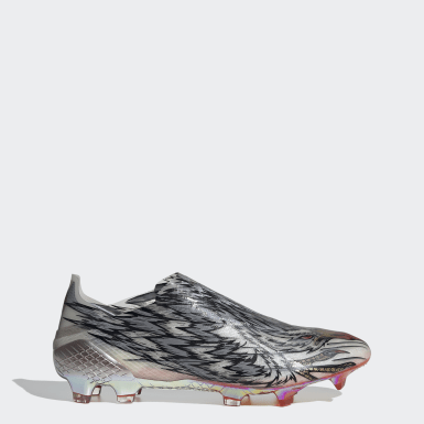 Scarpe da calcio X Ghosted+ Peregrine Speed Firm Ground Argento Calcio