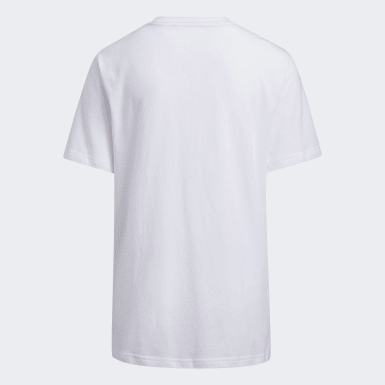 Youth Training White Sport Stripe Tee