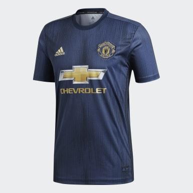Mænd Fodbold Blå Manchester United tredjetrøje