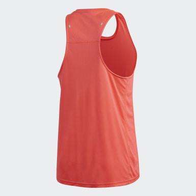 ผู้ชาย วิ่ง สีชมพู เสื้อกล้าม Own the Run 3-Stripes PB