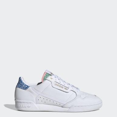 ผู้หญิง Originals สีขาว รองเท้า Continental 80
