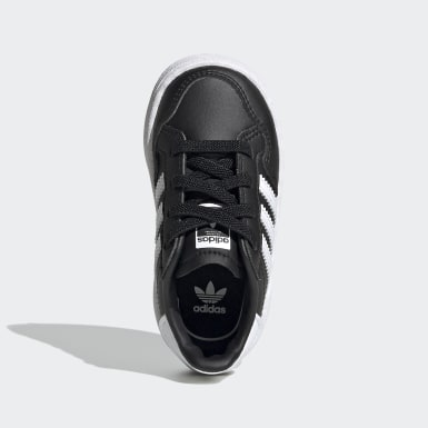 Kids Originals Black Team Court Shoes