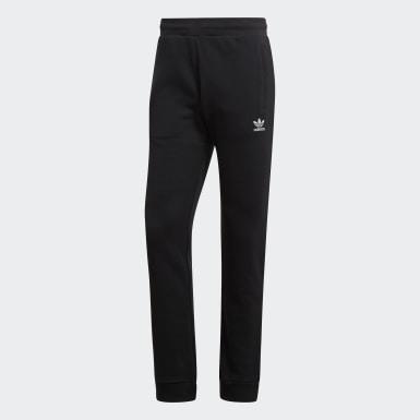 Muži Originals černá Kalhoty Trefoil Essentials