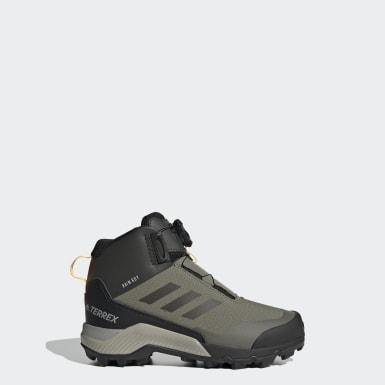 Kids TERREX Green Terrex Winter Mid Boa Hiking Shoes