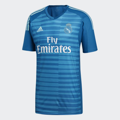 Men Football Turquoise Real Madrid Away Goalkeeper Jersey
