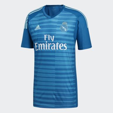 Männer Fußball Real Madrid Torwart-Auswärtstrikot Türkis