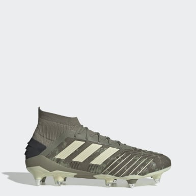 Zapatillas de Fútbol Predator 19.1 Terreno Suave Verde Hombre Fútbol