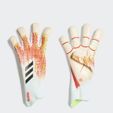 Men Football White Predator 20 Pro Hybrid Promo Gloves
