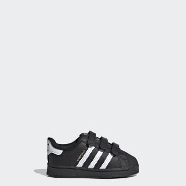 เด็ก Originals สีดำ รองเท้า Superstar