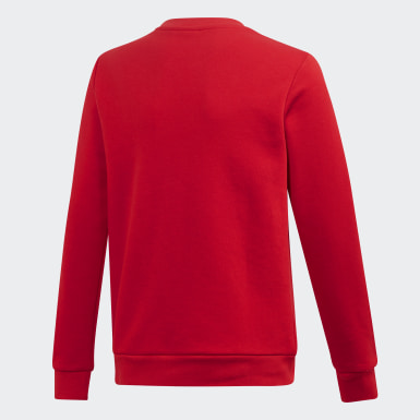 Barn Originals Röd Trefoil Crew Sweatshirt