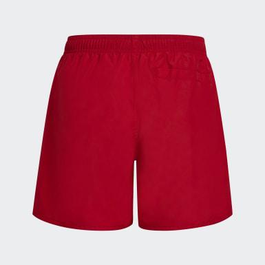 Chlapci Plávanie červená Plavecké šortky Classic Badge of Sport