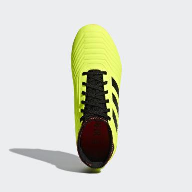 Calzado de fútbol Predator 18.3 Terreno Firme Amarillo Niño Fútbol