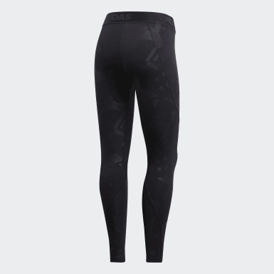 Women Training Black Alphaskin Sport 2.0 Embossed 7/8 Tights