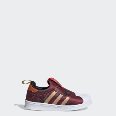 Kids Originals Burgundy Superstar 360 Shoes