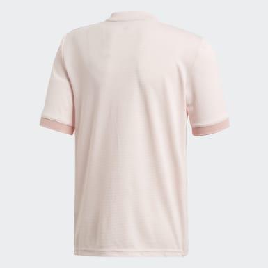 Camisola Alternativa do Manchester United Rosa Criança Futebol