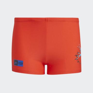 Jungen Schwimmen Marvel Superhero Boxer-Badehose Rot
