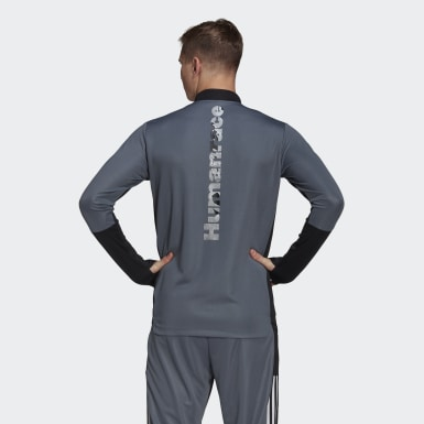 Men Soccer Black Real Madrid Human Race Training Top