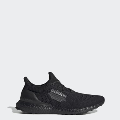 Men Running Black Ultraboost DNA Atmos Shoes