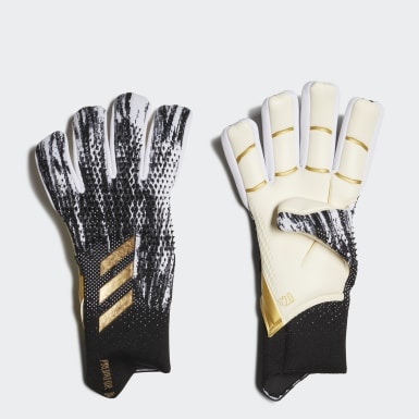 Football Black Predator 20 Pro Fingersave Goalkeeper Gloves