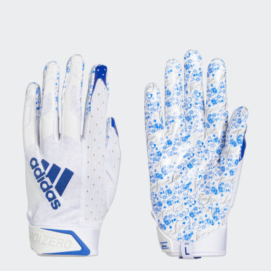 Football Blue Adizero 9.0 New Reign Receiver Gloves