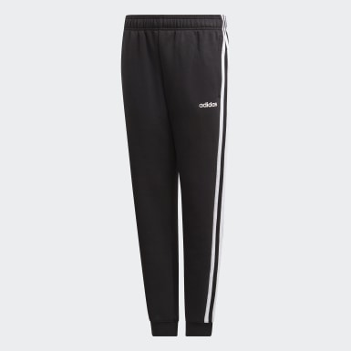 Calças 3-Stripes Essentials Preto Rapazes Athletics