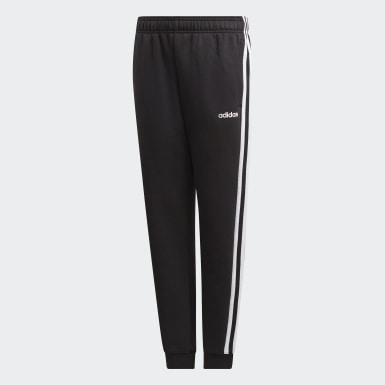 Jungen Athletics Essentials 3-Streifen Hose Schwarz