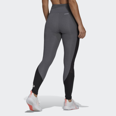 Legging Esportiva Designed To Move Big Logo Cinza Mulher Training