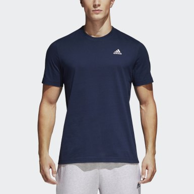 Men Lifestyle Blue Essentials Base Tee