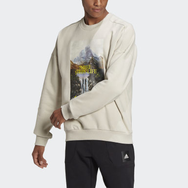 Men's Athletics Beige adidas Sportswear Mountain Graphic Sweatshirt