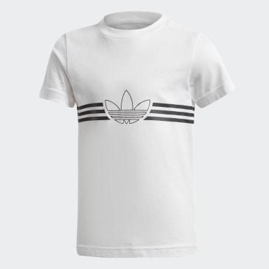 Børn Originals Hvid Outline T-Shirt and Shorts sæt