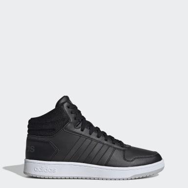 Men Basketball Black Hoops 2.0 Mid Shoes