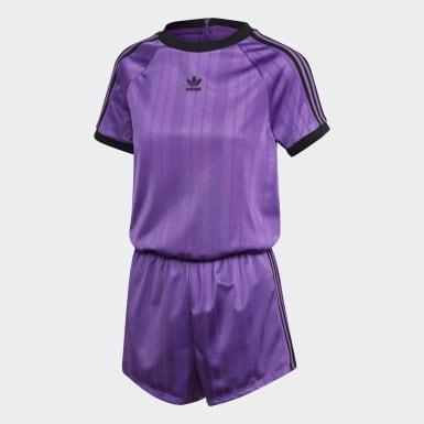 Agasalho Macaquinho Adidas Roxo Mulher Originals