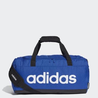 Training Blue Linear Logo Duffel Bag