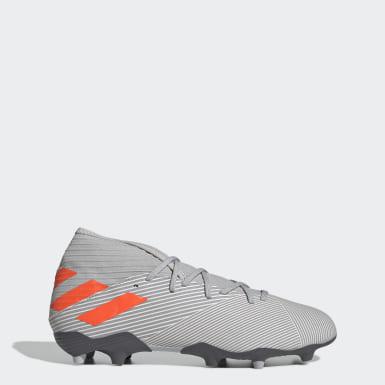 Zapatos de Fútbol Nemeziz 19.3 Terreno Firme Gris Hombre Fútbol