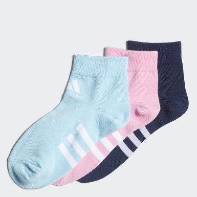เด็ก เทรนนิง สีชมพู ถุงเท้าหุ้มข้อ (3 คู่)