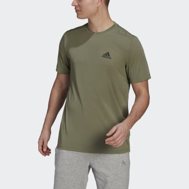 Men's Training Green AEROREADY Designed 2 Move Feelready Sport Tee