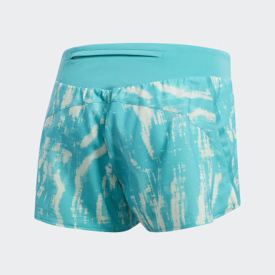 Women Running Turquoise Saturday Graphic Shorts