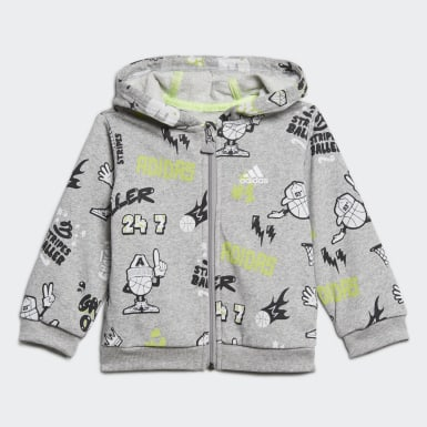 Tuta French Terry Graphic Grigio Bambini Training