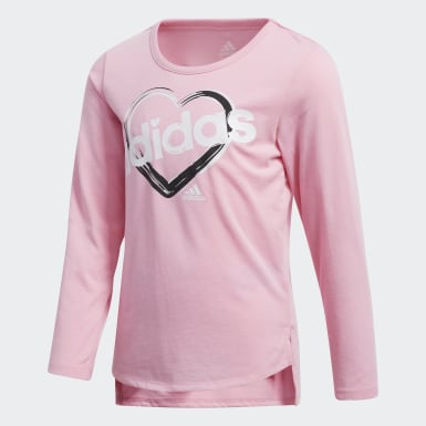 Children Training Pink Tee and Printed Tights Set
