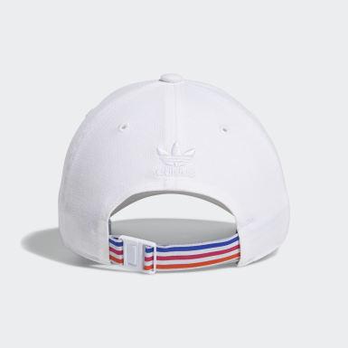 Women's Originals White 3D Trefoil Strap-Back Hat