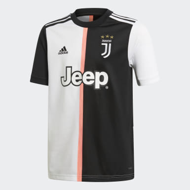 Boys Football Black Juventus Home Jersey